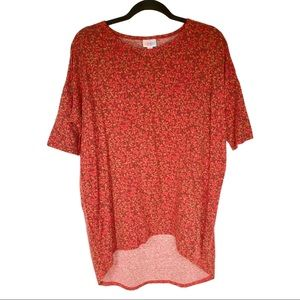 Abstract Print Red Tunic Top
